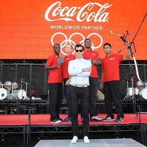 Mark Ronson sampled the sound of athletes in training for his London 2012 track