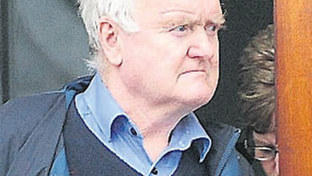 James Gonoude leaving court after the inquest into the death of his wife, Helen Gonoude, yesterday