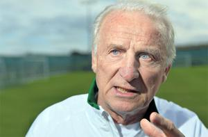 Giovanni Trapattoni addresses the media ahead of Ireland's 2014 World Cup Group C qualifier against Kazakhstan on Friday