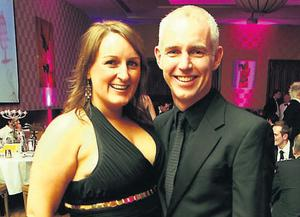 At the 2008 PPI Radio Awards in the Lyrath House Estate in Kilkenny were Jenny Kelly and Ray D'Arcy of Today FM