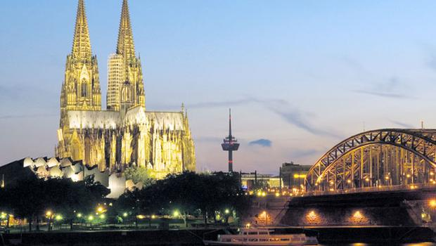 FLOATING BY: Cologne's fabled twin-spired cathedral tempted Triona to leave her luxurious stateroom for a tour of the city