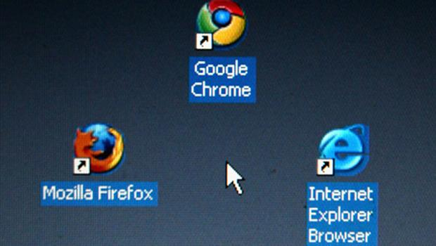 Firefox, Safari, Opera, Chrome and Flock are all taking on Internet Explorer. Google's Chrome is the fastest growing. Photo: Getty Images