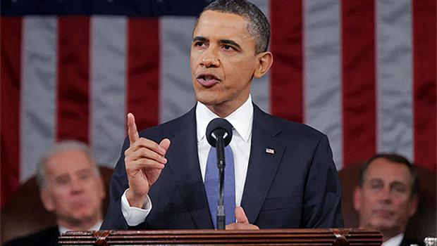 US President Barack Obama delivers his State of the Union address on Capitol Hill in Washington. Photo: Reuters