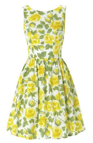 Lemon roses dress, €57, Red Herring at Debenhams