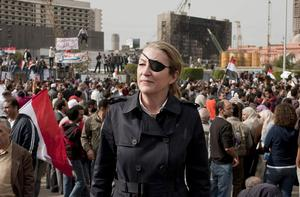 Marie Colvin who was killed in the besieged Syrian city of Homs