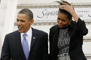 President Obama with his wife Michelle. Photo: PA