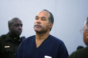 OJ Simpson Simpson stands in the courtroom after being sentenced at the Clark County Regional Justice Center December 5, 2008 in Las Vegas, Nevada. Photo: Getty Images