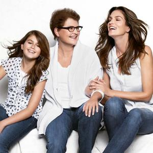 Cindy Crawford poses with her mother and daughter for JCPenney. Photo: JCPenney