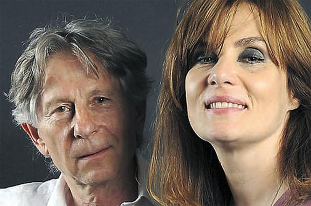 Film director Roman Polanski with his wife, singer Emmanuelle Seigner, who performed over the weekend at the Montreux Jazz Festival
