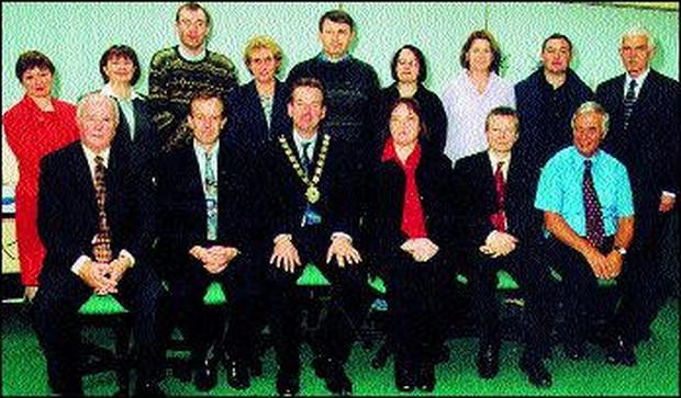 FÁS Staff and Night Trainers who received their Advanced ECDL Certificates recently: Back row (left to right): Olive Henry, Patricia Harvey, Gerry McMorrow, Edel Moran, Connell Cannon, Cathy Hunt, Claire McCarthy, Drew Lang, Philip McGuinness, Assistant Manager. Front row (left to right): Peter Tiernan, Training Centre Manager; Eddie Nally, ESB; Pat Clifford, President, Chamber of Commerce and Industry, Sligo; Jennifer Leech, Operations Manager, ECDL Ireland; Cathal Coleman, ESB; Frank Carr, Curriculum Officer.