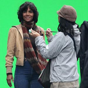 Halle Berry was spotted on the set of her new film Cloud Atlas