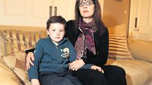 Mairead Lawless and her son Alex at their home in Rathgar, Dublin.