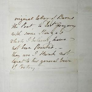 Part of a 222-year-old letter written by poet Robert Burns, which was found in Floors Castle in Kelso (Angus Blackburn)