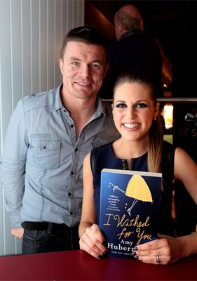 Brian O'Driscoll and Amy Huberman at the launch of I Wished For You