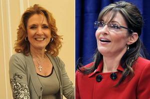The vitriol against Iris Robinson is similar to the criticism of Sarah Palin. Photo: PA & Getty Images