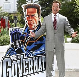 Arnold Schwarzenegger launches his new animated TV series The Governator in Cannes. Photo: AP