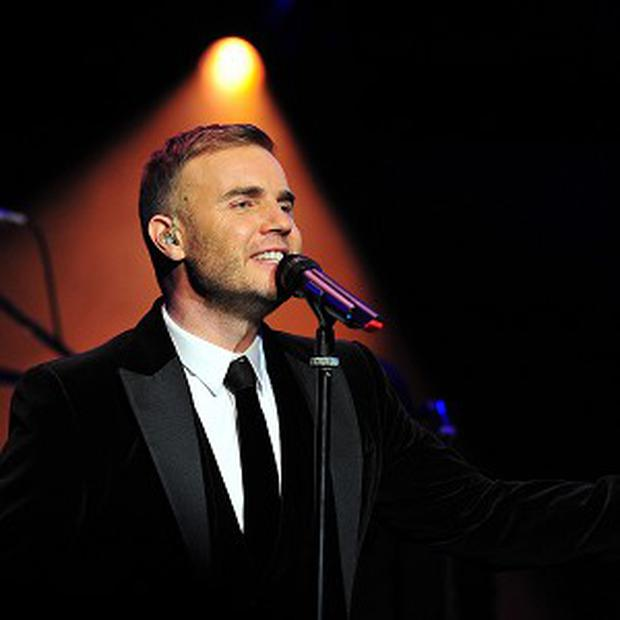 Gary Barlow performs at the Royal Albert Hall at a concert in aid of The Prince's Trust