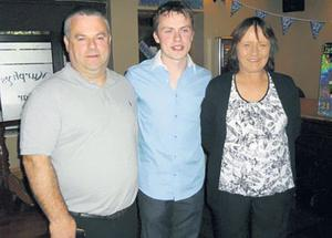 James Nolan at his recent 21st birthday with his parents Jimmy and Essie