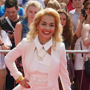 Rita Ora met fans before taking her seat as a guest X Factor judge