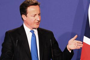 British Prime Minister David Cameron speaks during a news conference at the end of the G8 Summit on May 27. Photo: Getty Images