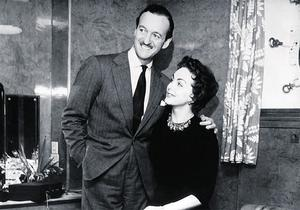 SHAM MARRIAGE: David Niven with his second wife Hjordis on board the ocean liner Queen Mary in 1948
