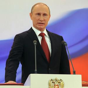 Vladimir Putin speaks during his inauguration ceremony as president in Moscow (AP/RIA Novosti Kremlin, Vladimir Rodionov, Presidential Press Service)