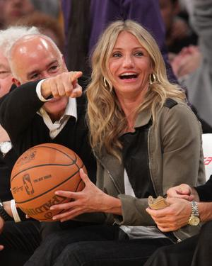 LOS ANGELES, CA - JANUARY 11:  Cameron Diaz attends a game between the Cleveland Cavaliers and the Los Angeles Lakers at Staples Center on January 11, 2011 in Los Angeles, California.  (Photo by Noel Vasquez/Getty Images)