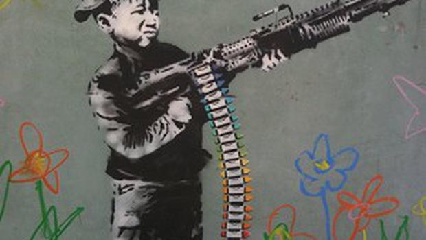 New artwork has sprung up in Los Angeles reputed to be created by Banksy.