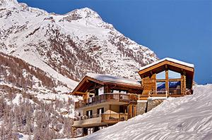 The chalet in Switzerland purchased by Sarah Newman