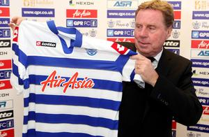 New QPR manager Harry Redknapp holds a shirt during a press conference at their training ground, Sipson Lane, Harlington. PRESS ASSOCIATION Photo. Picture date: Monday November 26, 2012. See PA Story SOCCER QPR. Photo credit should read: PA Wire. RESTRICTIONS: Editorial use only. Maximum 45 images during a match. No video emulation or promotion as 'live'. No use in games, competitions, merchandise, betting or single club/player services. No use with unofficial audio, video, data, fixtures or club/league logos.