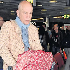 John Malkovich at Dublin Airport yesterday prior to his performance in 'The Infernal Comedy' last night