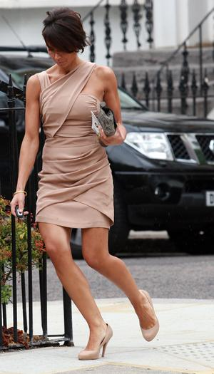 Christine Bleakley sighted leaving her home on August 13, 2010 in London, England.