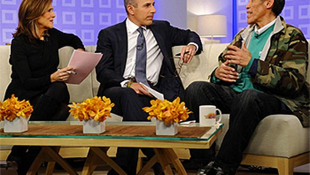 Co-hosts Meredith Vieira and Matt Lauer interviewed Ted Williams on NBC's 'Today' show. Photo: AP