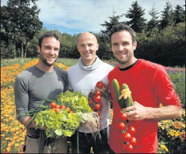 Twins David and Stephen Flynn from the Happy Pear Natural Food Market in Greystones and Marc Michel from Marc Michel Organic Life Farm Shop announced the details of National Organic Week which takes place from September 12-18, 2011.