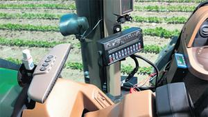 The Raven SmartBoom system uses GPS to control sprayer boom sections