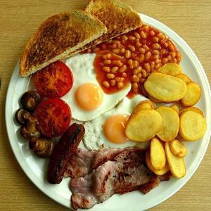 A significant number of French people enjoy the traditional English breakfast, a survey has shown