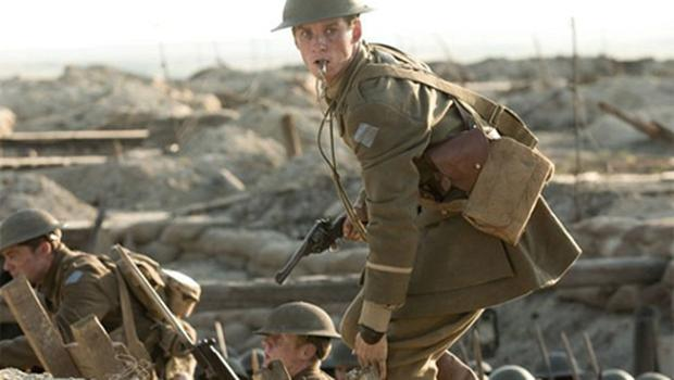 Trench warfare: Eddie Redmayne as hero Stephen Wraysford. Photo: BBC