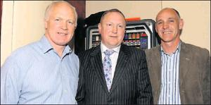 Seamus O'Neill with Barney Rock and David Beggy at his campaign launch last week.