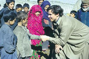 Pleased to meet you: Greg Mortenson meets school children in Central Asia
