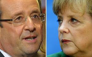 Angela Merkel has promised to welcome Francois Hollande with 'open arms'. Photo: Getty Images