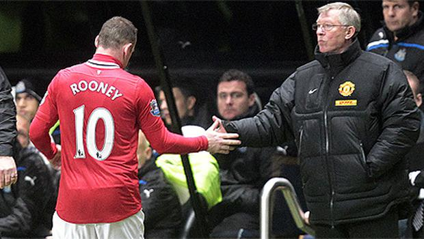 Rooney's relationship with Ferguson was frosty over Christmas