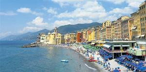 Camogli's pastel-painted townhouses