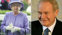 Queen Elizabeth II (left) at the Royal Ascot race meeting in England yesterday and Martin McGuinness (right) in Scotland yesterday