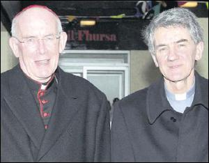 Fr. Oliver Brennan, pictured with Cardinal Sean Brady, said he held no grudges against the church heirarchy for the way he was treated after allegations of abuse.