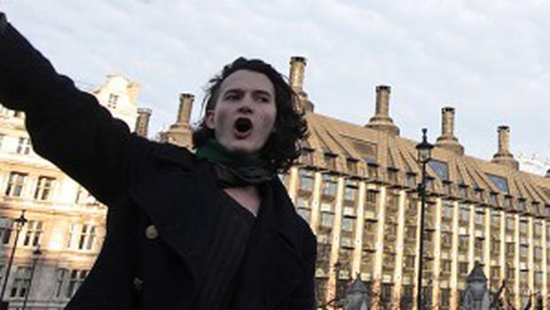 Charlie Gilmour has been charged for his part in student fee protests