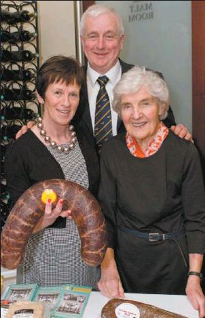 Bridget and Jack Mccarthy of Mccarthy's Butchers, Kanturk with Myrtle Allen of Ballymaloe at the Irish Food Writers' Guild awards, announced in Dublin last week.