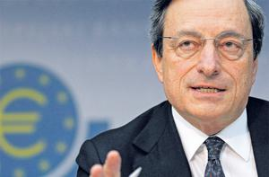 ECB president Mario Draghi has said the financial markets underestimate the political will to ensure the survival of the single currency. Photo: Reuters