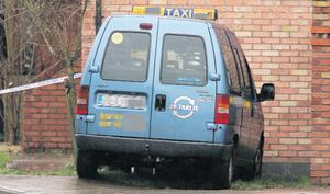 The taxi where the attack happened