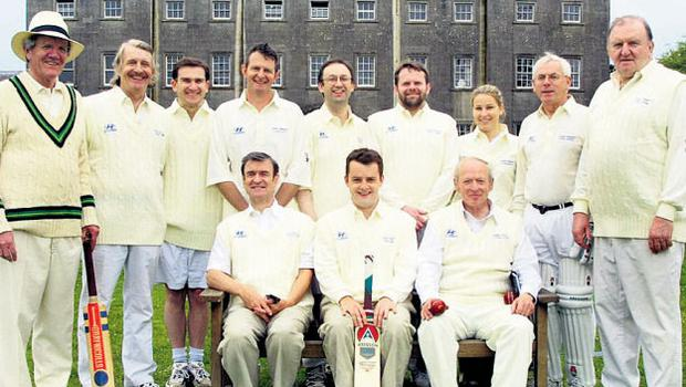 Aengus as part of the Sunday Independent's Cricket Society (back row, second from left)