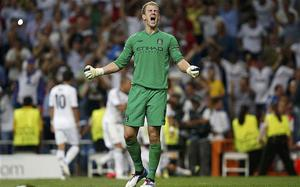 Disappointed: Joe Hart said Manchester City had themselves to blame for defeat against Real Madrid. Photo: Reuters